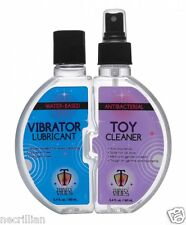 Natural Lubricant Water-Based Vibrator Dildo Lube+Anti-Bacterial Sex Toy Cleaner