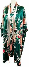 Kimono FREE NEXT DAY DELIVERY night dress gown sexy Peacock robe Emerald Green