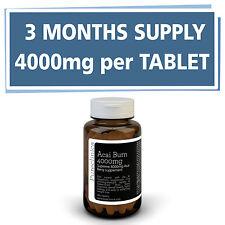 3 x Bayas Acai 4000mg +3 red. de grasa clínicamente probados altamente potentes