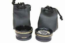 2Pc Lens Kit Hi Def Telephoto & Wide Angle Lens Set for Samsung NX30