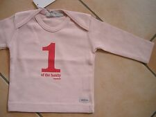"""(X52) Imps & Elfs Baby Shirt mit Druck """"1 one of the family imps & elfs"""" gr.62"""