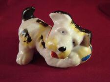 Vintage OCCUPIED JAPAN Scotty Scottish Scottie Terrier Dog Figurine w/Ball #DE1