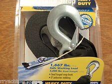 """BOAT TRAILER WINCH STRAP HEAVY DUTY 279 F14213 3"""" WEBBING 25FT LOOP END BOATING"""