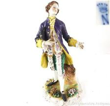 GERMAN DRESDEN RUDOLSTADT VOLKSTEDT PORCELAIN FIGURE OF A GALLENT 24cm 9 1/2""