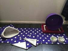 Hedgehog Starter Set,wheel,tray,bowls,bed,blankets And Liners