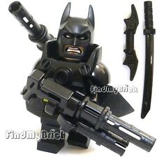 BM002AW Lego Batman Minifigure with Super Armor and Mess Weapons NEW