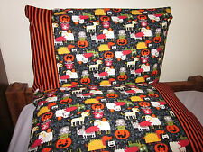 Halloween pet pattern fabric 100% new Cotton handmade Pillowcase one pair