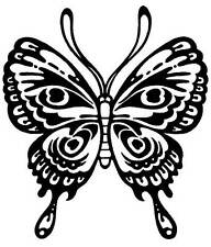 Stylized Butterfly Unmounted Rubber Stamp 7126