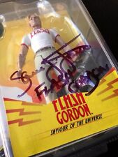 Signed SAM JONES (Ted 2) FLASH GORDON Alex Ross Action Figure - Very RARE OOP