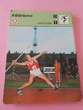 Athlétisme Janis Lusis né à Jelgava en Lettonie Fiche Card 1977