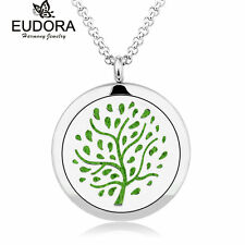 Tree Stainless Steel Essential Oils Diffuser Necklaces Aromatherapy Women Gift