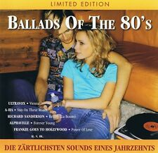 Ballads Of The 80s - CD NEU Richard Sanderson Alphaville Bonnie Bianco Ultravox