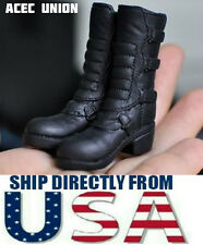 U.S. SELLER KUMIK FS-14 1/6 Scale Black Widow Catwoman Riding Boots BLACK