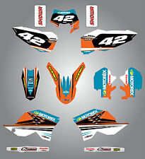 KTM EXC 2008 - 2011 Full  Custom Graphic  Kit - STRIKE STYLE stickers/decals