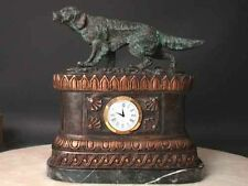 Bronze Clock Setter Pointer Dog Sculpture