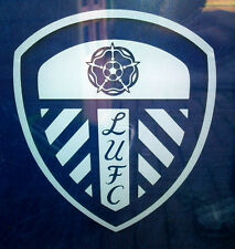 Leeds United white vinyl car window sticker X1 LUFC decal self adhesive glass