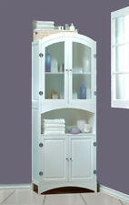 NEW LOVELY WHITE WOOD LINEN CABINET-BATHROOM STORAGE, DECOR FURNITURE RET.$350.