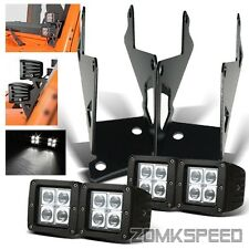 "07-15 JEEP WRANGLER JK A-Pillar Bracket + 4PC 3"" 12W Offroad LED Flood Light Bar"