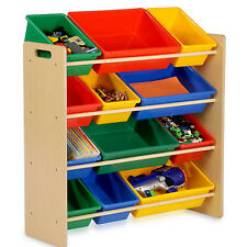 Toy Organizer with Bins for Kids Room Playroom Storage Furniture Box Daycare