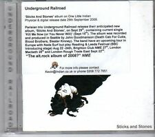 (FD918) Underground Railroad, Sticks and Stones - 2008 CD