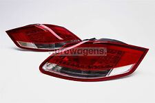 Porsche Boxster 987 Cayman LED Red Clear Rear Tail Lights Lamps Pair Left Right