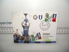 Cartolina Francobollo Annullo 4.7.2008 INTER CAMPIONE NAZIONALE CALCIO 2007-2008