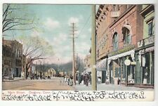 [53748] 1908 POSTCARD STORE FRONTS ON MAIN STREET IN DANBURY, CONNECTICUT
