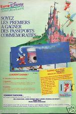 Publicité advertising 1991 Jeu Concours Euro Disney Disneyland Paris