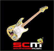 SPONGEBOB SQUAREPANTS ELECTRIC GUITAR + GIG BAG, STRAP, PICK & DVD w SETUP NEW