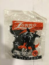 Zorro Play Set Figure Mint In Bag 1950's