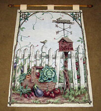 Running Bunny ~ Weathervane Rabbit Birdhouse Tapestry Wall Hanging