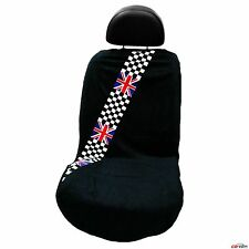 BRAND NEW British Checkered Flag Mini Cooper Seat Armour Front Seat Cover Towel