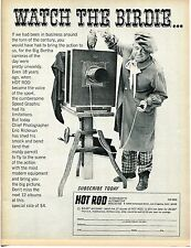 1966 Hot Rod Magazine Watch The Birdie Subscription Order Form Print Ad