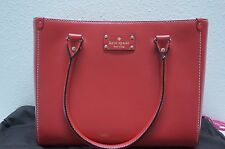 NWT KATE SPADE QUINN Wellesley Medium Garnet Pebbled Leather - New with Tag