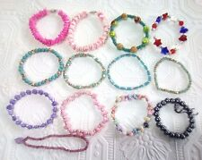 Large Lot of 13 Colorful Bracelets. pink, blue, purple, elephants