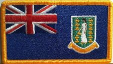 British Virgin Islands  Flag   Iron-On Patch Military Emblem Gold Border