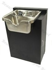 Shampoo Sink Cabinet Stainless Steel Bowl Salon Equipment TLC-1167 SS-FC