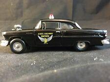1955 CHEVROLET BEL AIR OHIO STATE HIGHWAY PATROL Vintage Police 1:43 DIECAST
