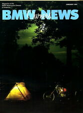BMW Owners News magazine JAN 1991 Motorcycle