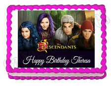 Disney Descendants party edible cake image cake topper frosting sheet