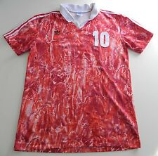 MENS VERY RARE VINTAGE ADIDAS FOOTBALL T-SHIRT MADE IN FRANCE SIZE: L /42-44/