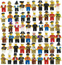 Grab Bag Lot of 60Pcs Minifigures toys Figures Men People Minifigs Best Quality