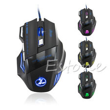 Hot For Pro Gamer Cheap 5500DPI 7 Button LED Optical USB Wired Gaming Mouse Mice