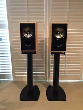 One Pair of KEF XQ20 speakers, Birds Eye Maple, With Stands, Mint Condition
