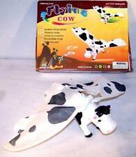 2 BATTERY OPERATED FLYING COW animals cows toys novelty moving animal toy new