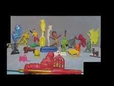 Nice BIG lot of hard plastic TOYS from 1930s & 1940s Cracker Jack & more
