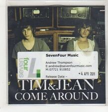 (GD89) Tim & Jean, Come Around - 2011 DJ CD