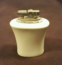 Vintage table top ceramic lighter occupied Japan classic white never used