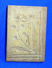 Vintage Wooden German SPRINGERLE COOKIE MOLD Flower Motive #J14