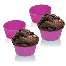 """Zeal Bake & Serve Large Silicone 3.5"""" Muffin / Cupcake Cups / Cases - Set of 4"""